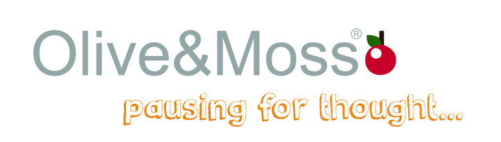 olive and moss logo, pausing for thought